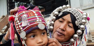 Akha, Traditional Costume, Hill Tribes, Thailand