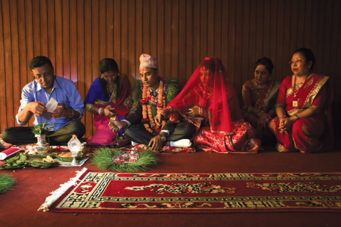 Nepal wedding , Newari widows, Kathmandu Valley