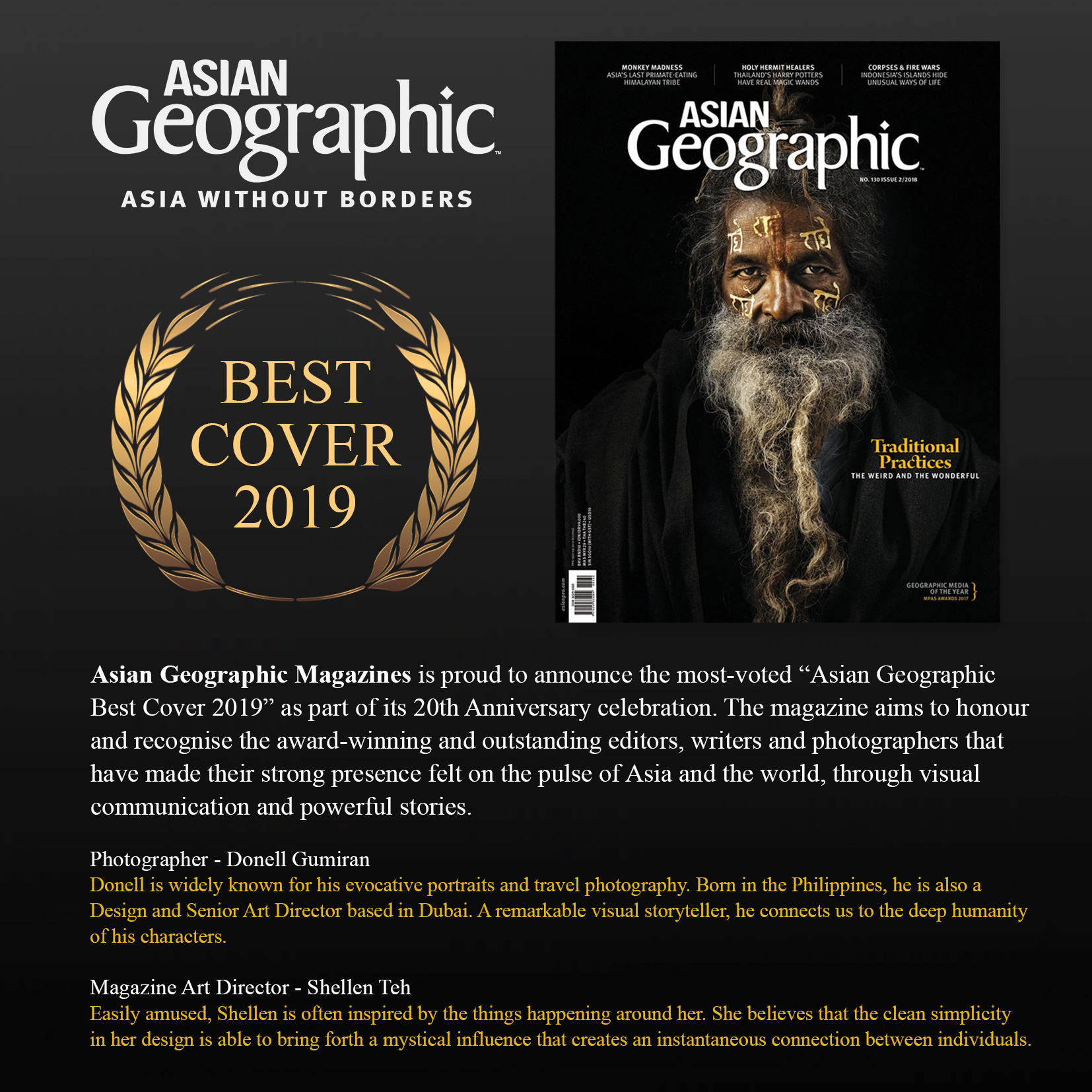Asian Geographic Best Cover 2019 Donell Gumiran and Shellen Teh