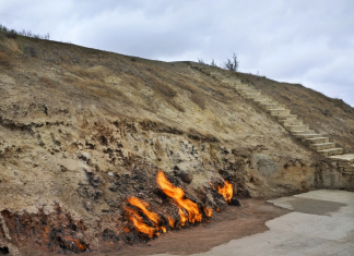 The natural fire of Yanar Dag